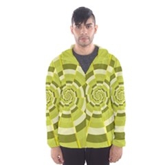 Crazy Dart Green Gold Spiral Hooded Wind Breaker (men)