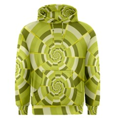 Crazy Dart Green Gold Spiral Men s Pullover Hoodie