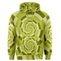 Crazy Dart Green Gold Spiral Men s Pullover Hoodie View1