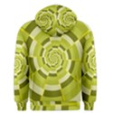 Crazy Dart Green Gold Spiral Men s Pullover Hoodie View2