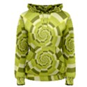 Crazy Dart Green Gold Spiral Women s Pullover Hoodie View1