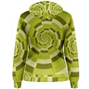 Crazy Dart Green Gold Spiral Women s Pullover Hoodie View2
