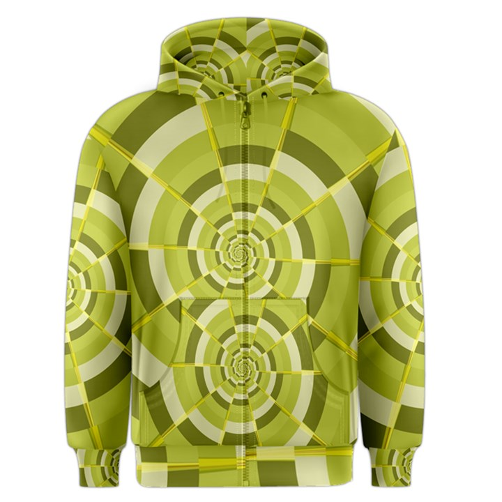 Crazy Dart Green Gold Spiral Men s Zipper Hoodie