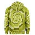 Crazy Dart Green Gold Spiral Men s Zipper Hoodie View2