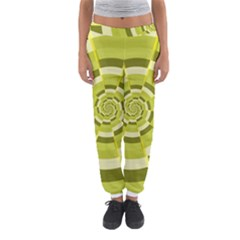 Crazy Dart Green Gold Spiral Women s Jogger Sweatpants