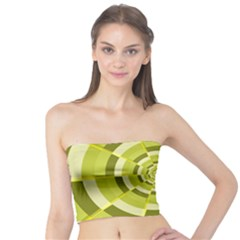 Crazy Dart Green Gold Spiral Tube Top