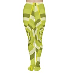 Crazy Dart Green Gold Spiral Women s Tights