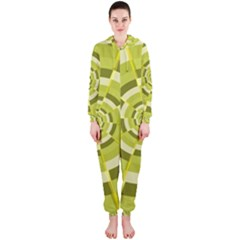 Crazy Dart Green Gold Spiral Hooded Jumpsuit (Ladies)