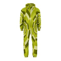 Crazy Dart Green Gold Spiral Hooded Jumpsuit (kids)