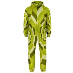 Crazy Dart Green Gold Spiral Hooded Jumpsuit (Men)