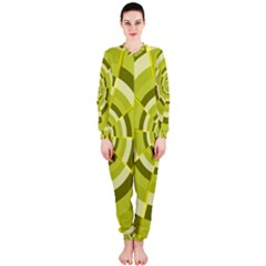Crazy Dart Green Gold Spiral OnePiece Jumpsuit (Ladies)