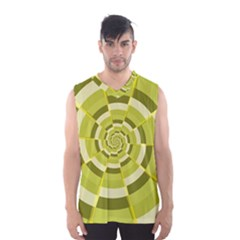 Crazy Dart Green Gold Spiral Men s Basketball Tank Top