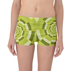 Crazy Dart Green Gold Spiral Boyleg Bikini Bottoms