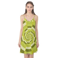Crazy Dart Green Gold Spiral Camis Nightgown