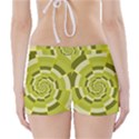 Crazy Dart Green Gold Spiral Boyleg Bikini Wrap Bottoms View2