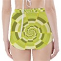 Crazy Dart Green Gold Spiral High-Waisted Bikini Bottoms View2
