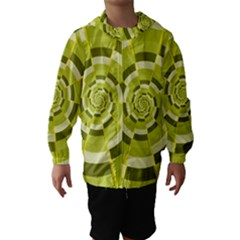 Crazy Dart Green Gold Spiral Hooded Wind Breaker (Kids)