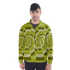 Crazy Dart Green Gold Spiral Wind Breaker (Men)