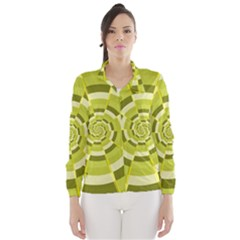 Crazy Dart Green Gold Spiral Wind Breaker (women)