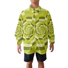 Crazy Dart Green Gold Spiral Wind Breaker (kids)