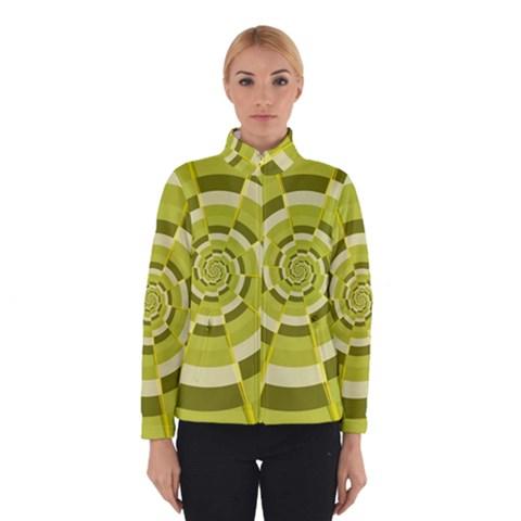 Crazy Dart Green Gold Spiral Winterwear