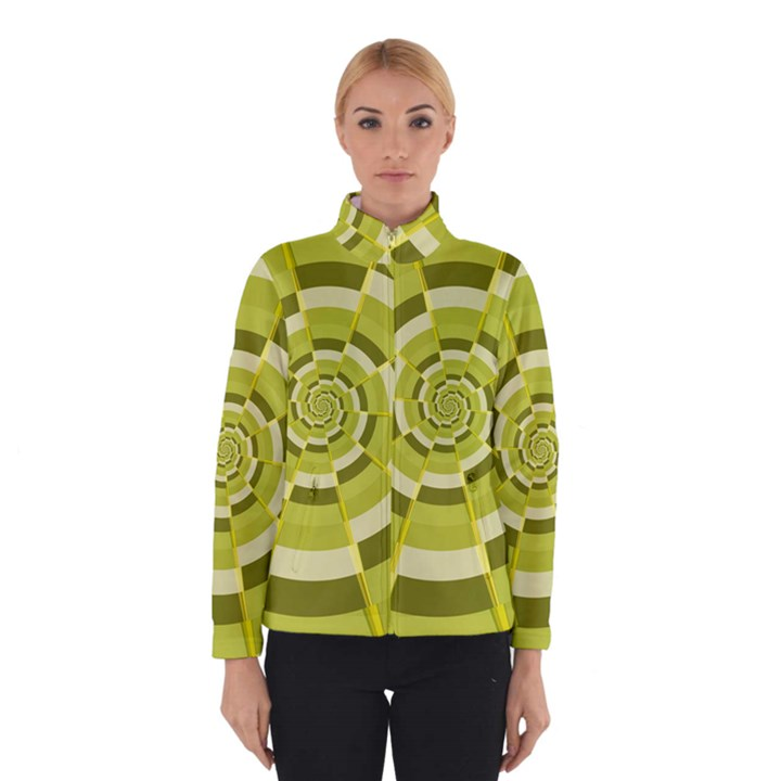Crazy Dart Green Gold Spiral Winterwear