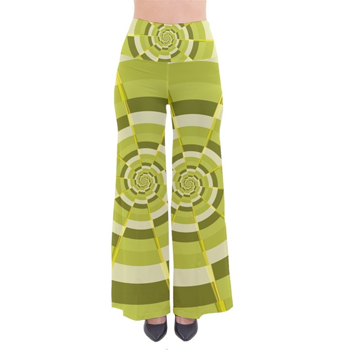 Crazy Dart Green Gold Spiral Pants