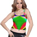 Colorful Abstract Butterfly With Flower  Spaghetti Strap Bra Top View1