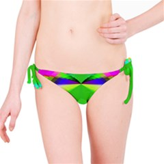 Colorful Abstract Butterfly With Flower  Bikini Bottom