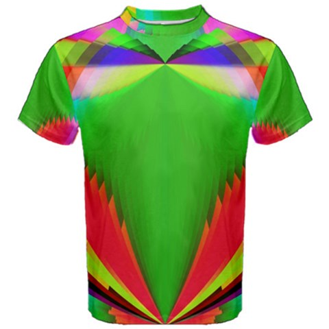 Colorful Abstract Butterfly With Flower  Men s Cotton Tee