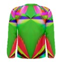 Colorful Abstract Butterfly With Flower  Men s Long Sleeve Tee View2