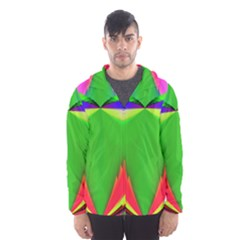 Colorful Abstract Butterfly With Flower  Hooded Wind Breaker (Men)