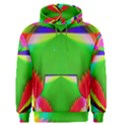 Colorful Abstract Butterfly With Flower  Men s Pullover Hoodie View1