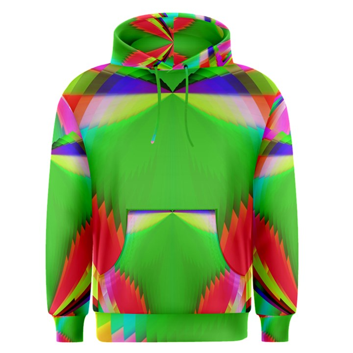 Colorful Abstract Butterfly With Flower  Men s Pullover Hoodie