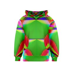 Colorful Abstract Butterfly With Flower  Kids  Pullover Hoodie