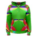 Colorful Abstract Butterfly With Flower  Women s Pullover Hoodie View1