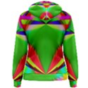 Colorful Abstract Butterfly With Flower  Women s Pullover Hoodie View2