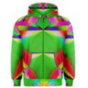 Colorful Abstract Butterfly With Flower  Men s Zipper Hoodie View1