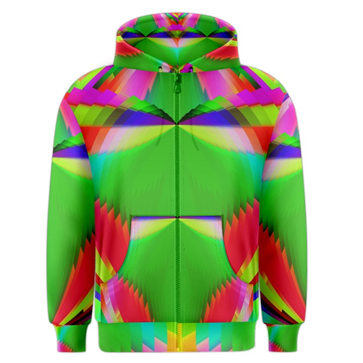 Colorful Abstract Butterfly With Flower  Men s Zipper Hoodie