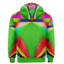 Colorful Abstract Butterfly With Flower  Men s Zipper Hoodie View2