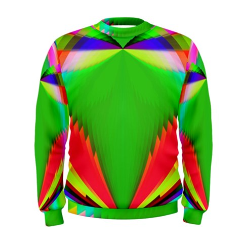Colorful Abstract Butterfly With Flower  Men s Sweatshirt