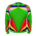 Colorful Abstract Butterfly With Flower  Men s Sweatshirt View1