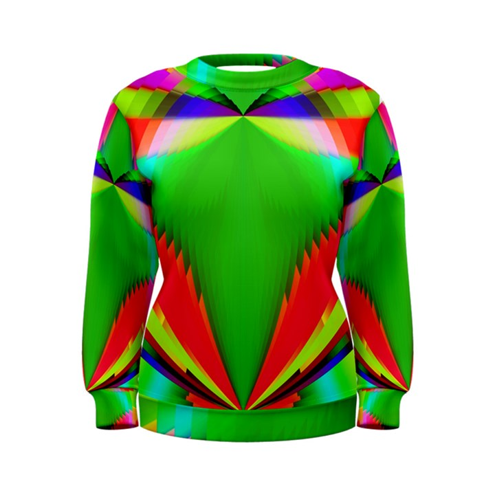 Colorful Abstract Butterfly With Flower  Women s Sweatshirt