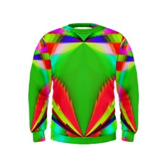 Colorful Abstract Butterfly With Flower  Kids  Sweatshirt