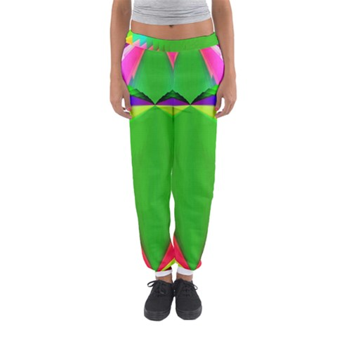 Colorful Abstract Butterfly With Flower  Women s Jogger Sweatpants