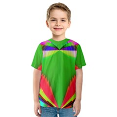 Colorful Abstract Butterfly With Flower  Kids  Sport Mesh Tee