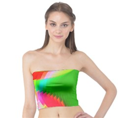 Colorful Abstract Butterfly With Flower  Tube Top