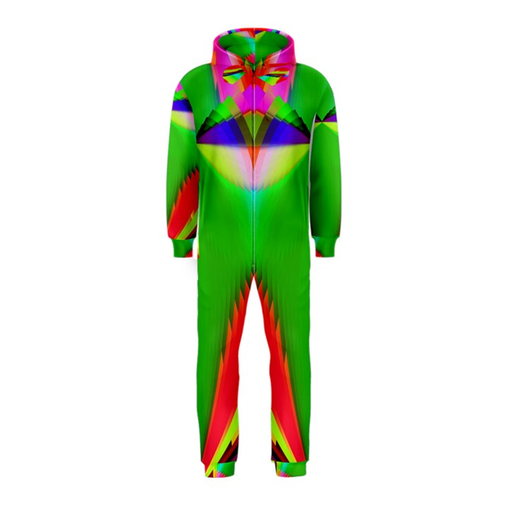 Colorful Abstract Butterfly With Flower  Hooded Jumpsuit (Kids)