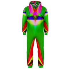 Colorful Abstract Butterfly With Flower  Hooded Jumpsuit (Men)