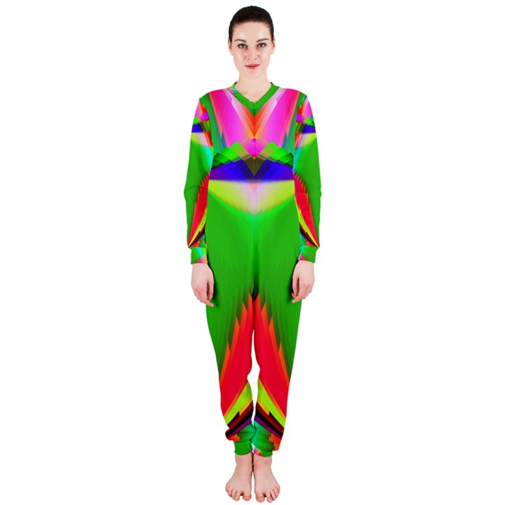 Colorful Abstract Butterfly With Flower  OnePiece Jumpsuit (Ladies)